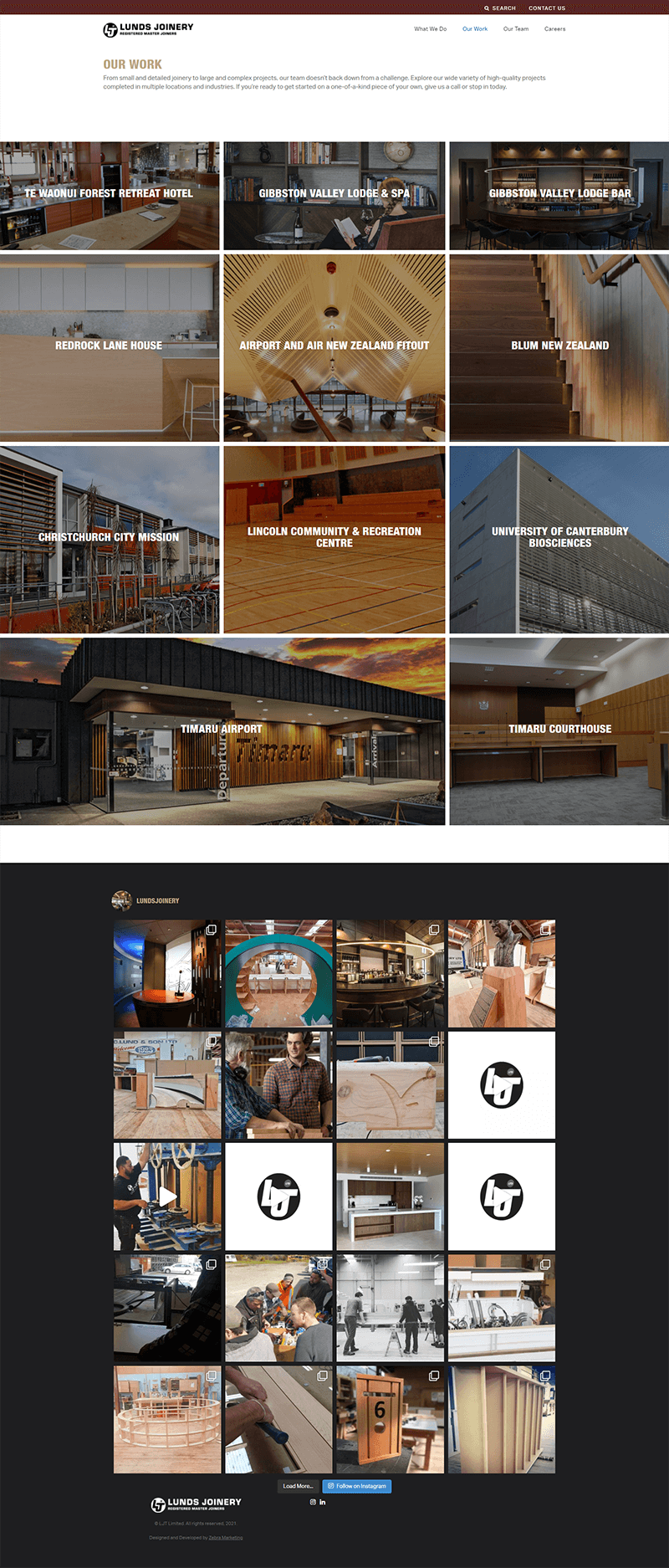 Lunds Our Work page